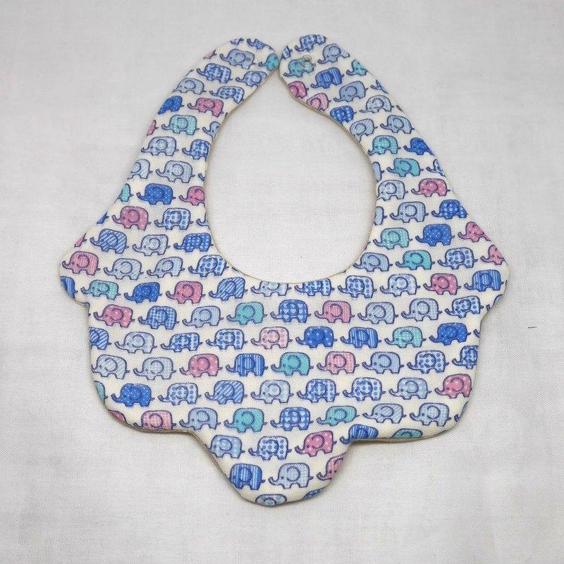 日本手工製作的8層紗布嬰兒圍兜/大象