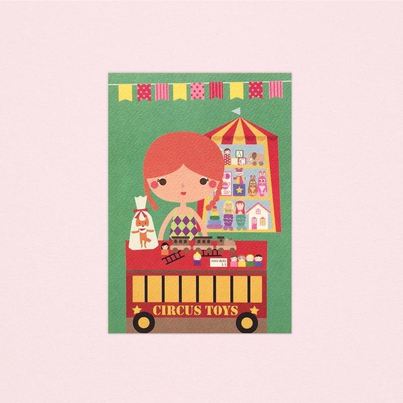 [女孩與她的店] elizabeth's 的玩具店 - 明信片