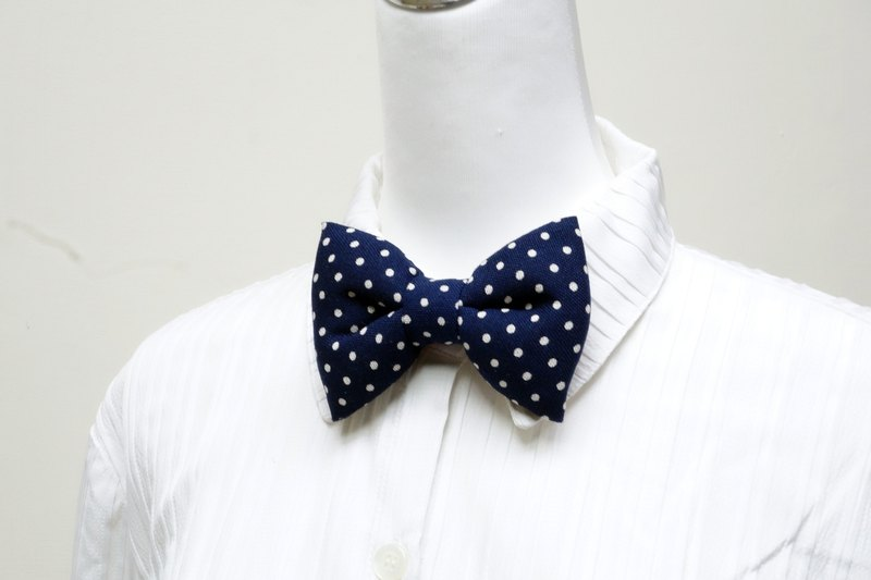 深藍手工立體蝴蝶結領結 bow tie *SK*