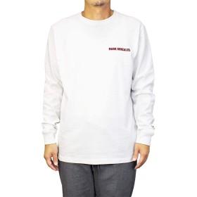 [Mark Gonzales] ロンT マークゴンザレス メンズ サークルロゴ (Large, ホワイト)