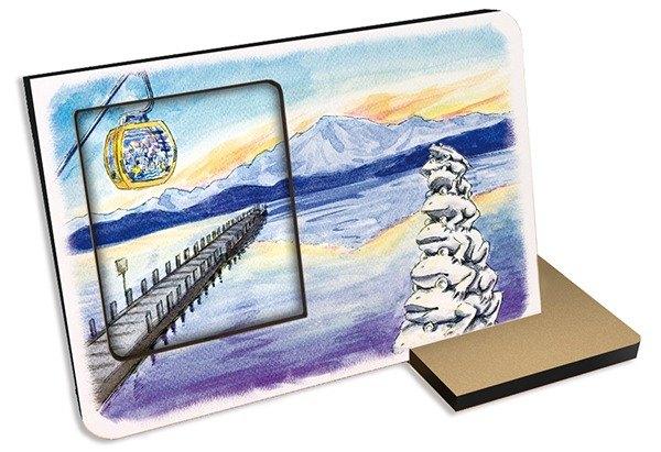 台灣十大景點~日月潭30秒 聲光錄音卡片相框照片 觀光 紀念品