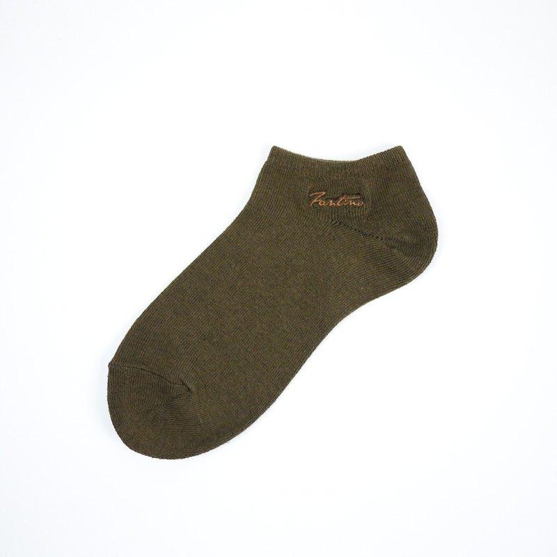 膠原蛋白抗菌除臭襪(單色款)可可棕