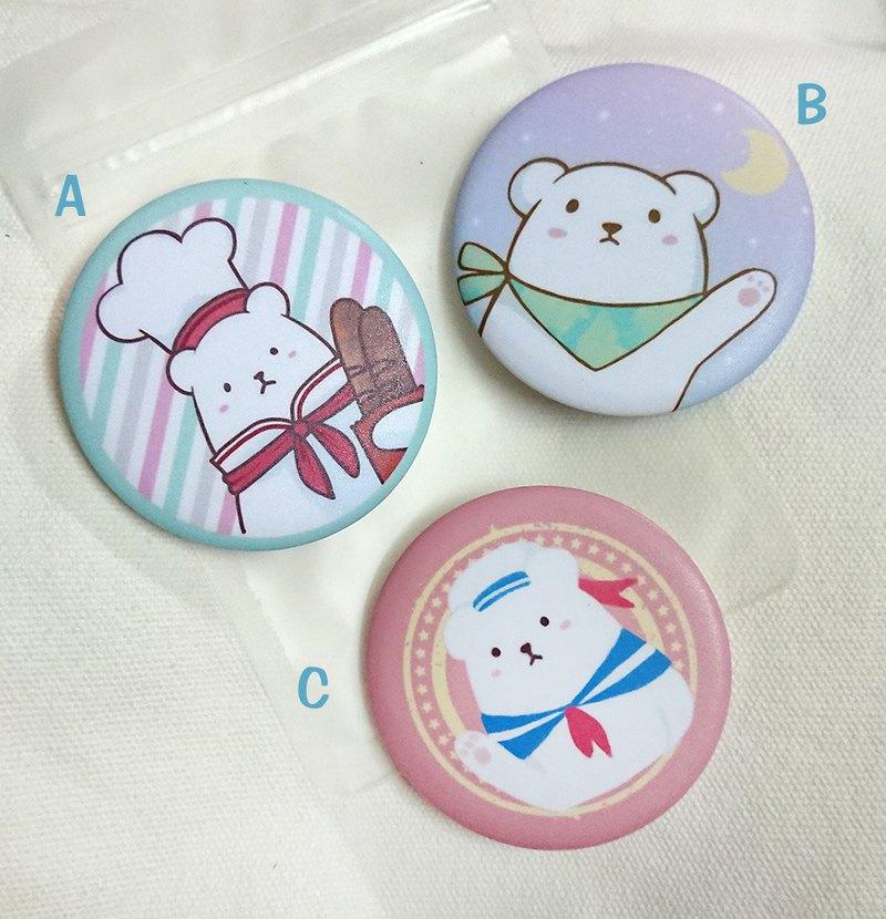 S003 米米熊日常 襟章  A-C 款
