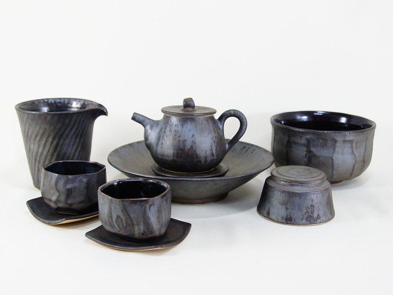 金屬色消光茶具組