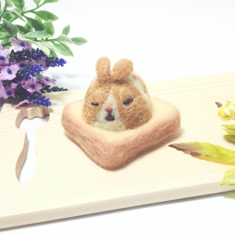 羊毛氈麻糬吐司_花生芝麻兔