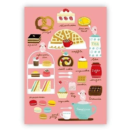 [Poca] 插畫明信片:楊小姐的甜點手記(編號44)