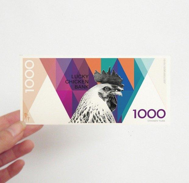 2017雞年祝福卡片-創意雞年玩具紙幣-紅包-雞年紙幣書籤-新春祝福禮物
