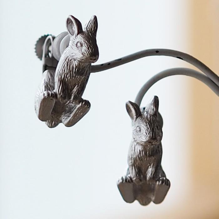 兔子耳環荷蘭矮銀