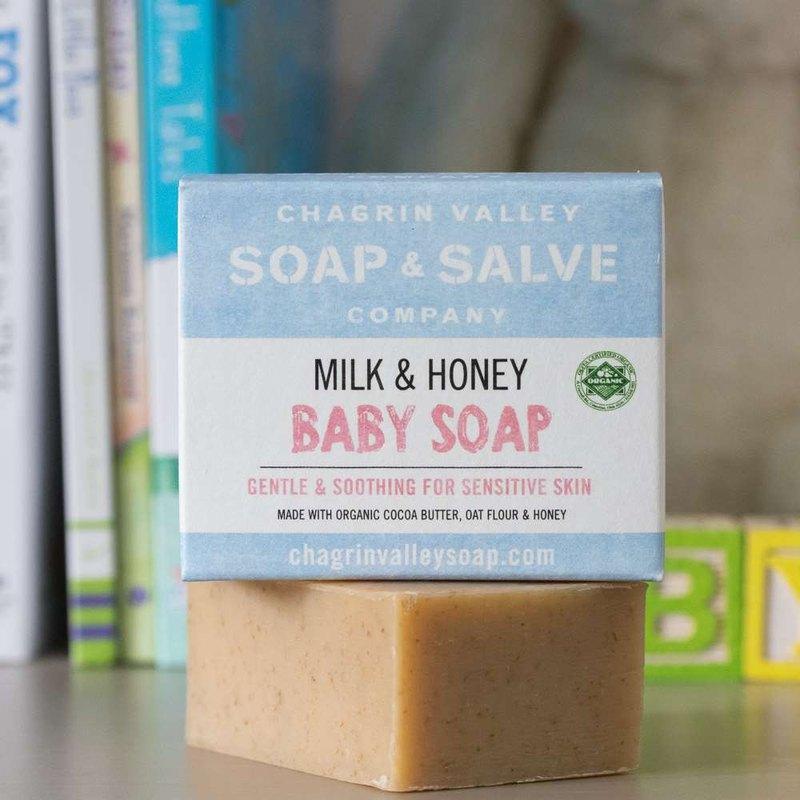 美國Chagrin Valley 寶寶專用天然有機蜂蜜山羊奶皂3.5OZ-約100g