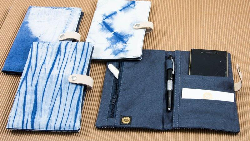 藍染 護照套 萬用袋 手帳