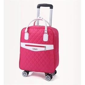 PIERPOLOキャリーバッグ リュック リュックになる キャリー 機内持ち込み レディース キャスター付きリュックリュックサック ソフトスーツケース 短期旅行カバン 4輪 (L, ピンク&白)