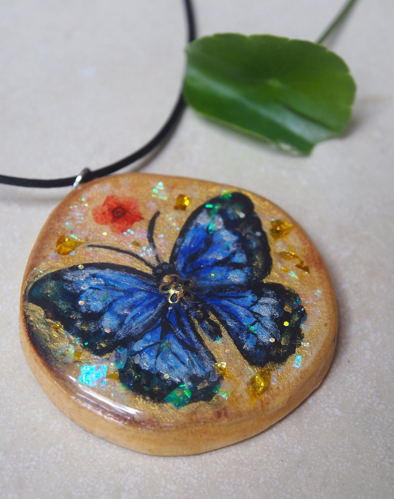 蝴蝶:靈獸手繪木項鍊