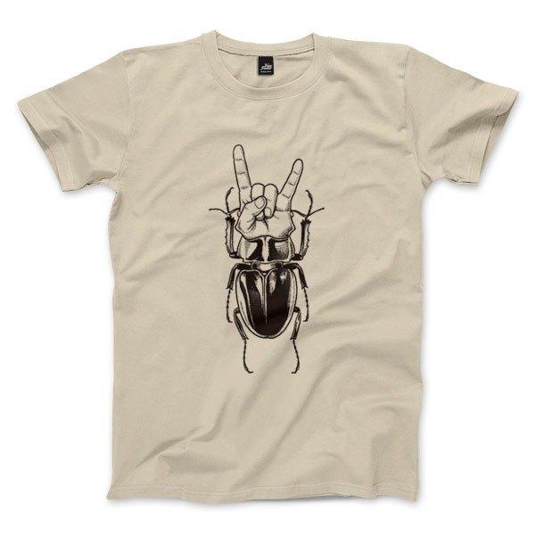 搖滾甲天下 - 卡其 - 中性版T恤