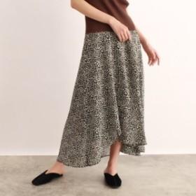 オゾック(OZOC)/[洗える]アシメフレアスカート