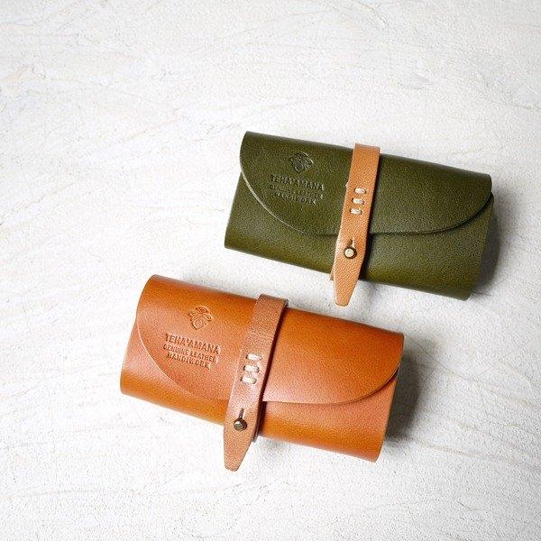 日本雙配色 手作扣飾鑰匙包  Made in Japan by TEHA'AMANA