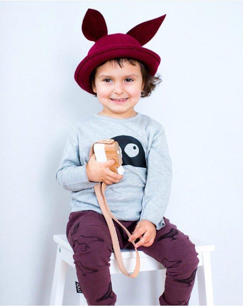 【北歐童裝】冰島兒童有機棉哈倫褲1歲至8歲 咖啡紅