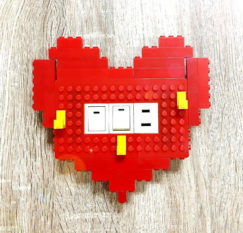 Qubefun 積木收納愛心造型組合包 限量供應 相容樂高 可愛禮物