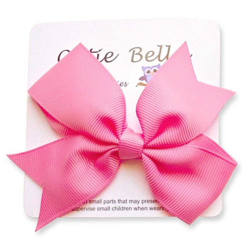 Cutie Bella 夢幻蝴蝶結手工髮飾全包布 Bow Stretch髮夾-Smitten
