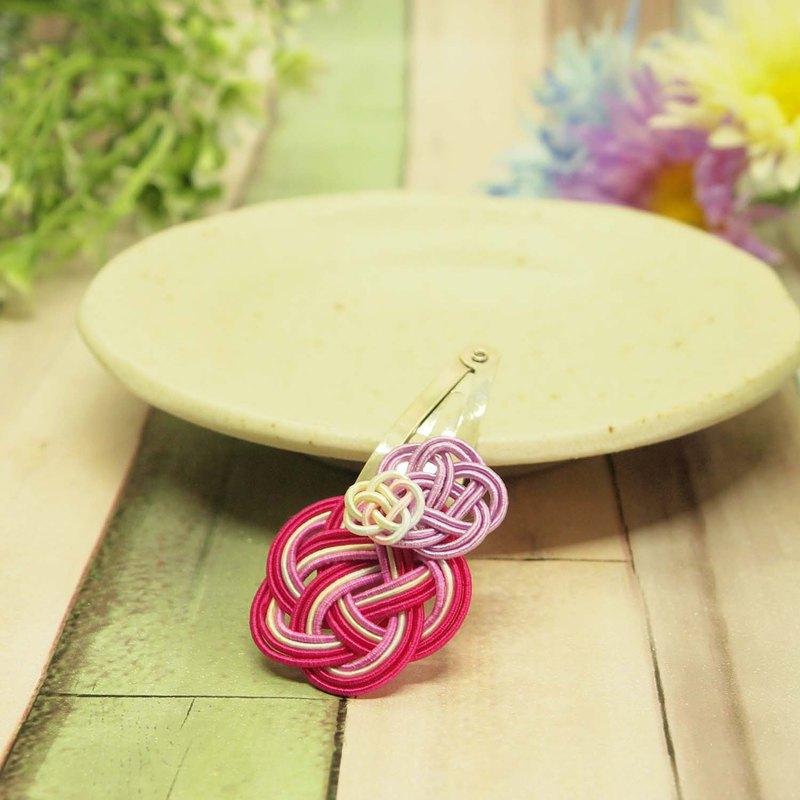 日式頭髮按扣夾/ mizuhiki /和諧-和 /繡球