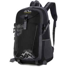 アウトドア登山リュック大容量バッグレジャー旅行バッグバックパックの男性と女性,黒