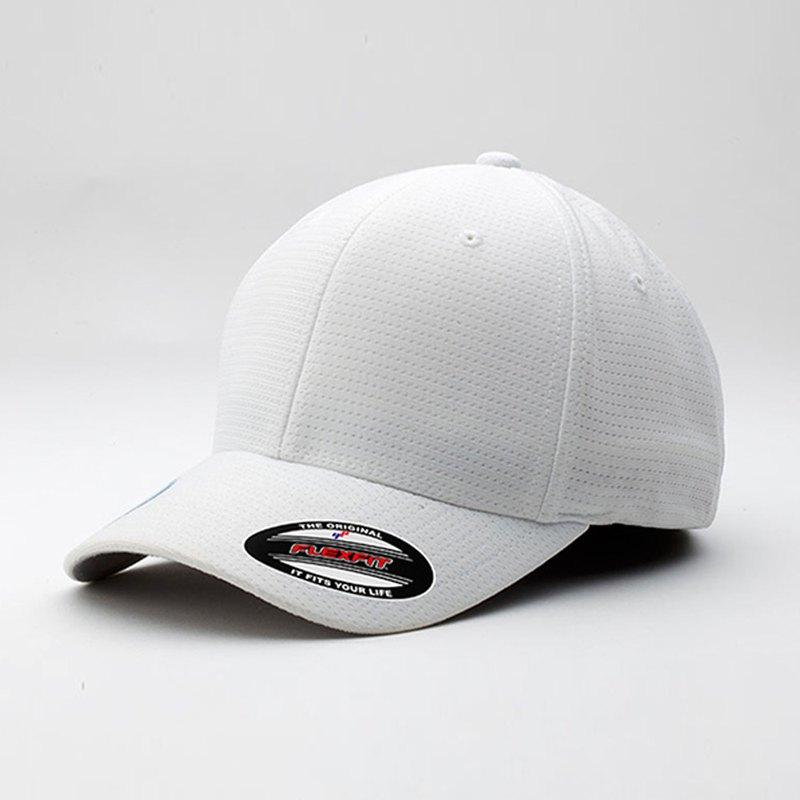 【YUPOONG】cool-dry-calocks-tricot 白色-客製化1-6572-09