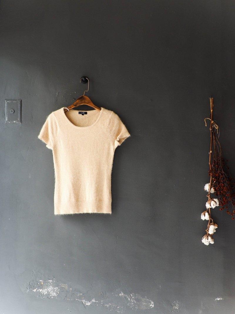 東京暖卡布奇諾青春手札 古董絨絨軟綿安格拉羊毛上衣毛衣vintage
