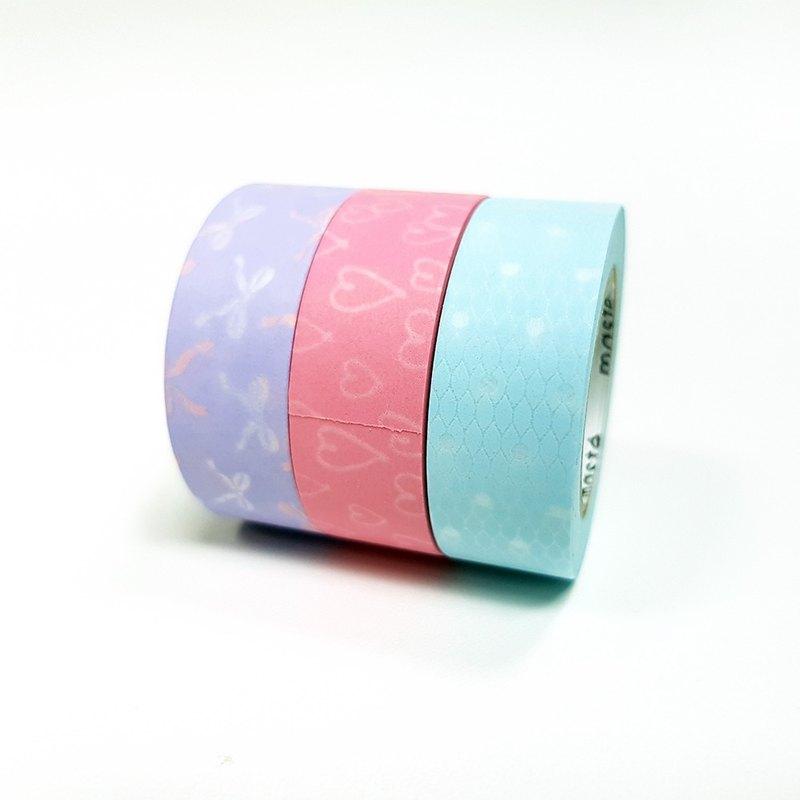 maste Draw Me 和紙膠帶 3入組 / 女孩風 (MST-FA16-SET)