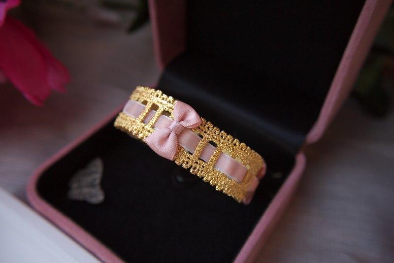 法式金屬小蝴蝶結蕾絲手環   Choccy by SHIH18