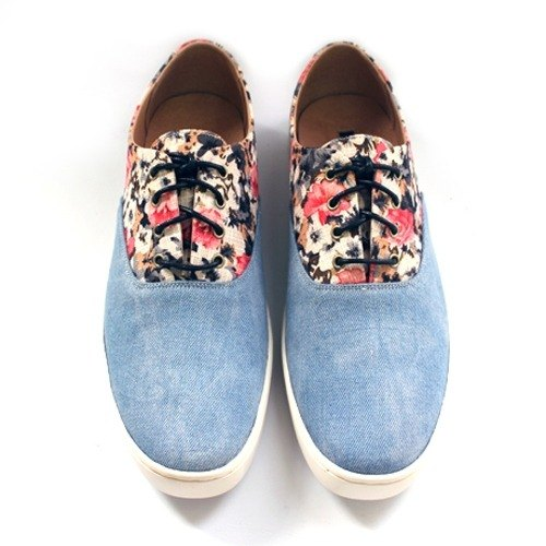Two Tone Classic Original Sneakers M1107 FuxiaSkyblue