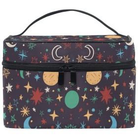 月の星化粧品袋オーガナイザージッパー化粧バッグポーチトイレタリーケースガールレディース