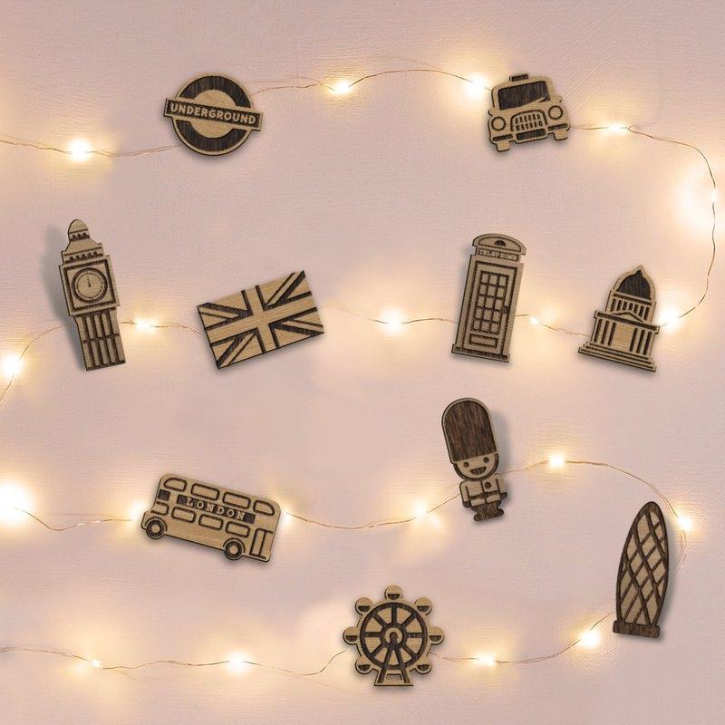 環遊世界 (英國) 星空燈萬用卡片組+造型木夾