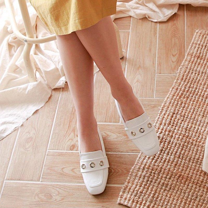 韓國人手製 MACMOC Ozoz (WHITE) 小甜圈樂福鞋