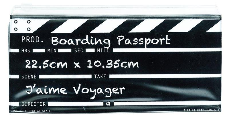 Director clap長登機護照(黑色)
