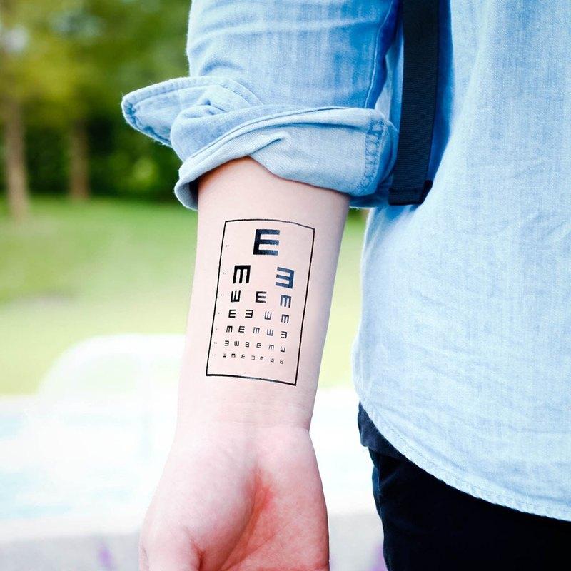 刺青紋身貼紙 - 視力檢查 趣味 紋身 Surprise Tattoos