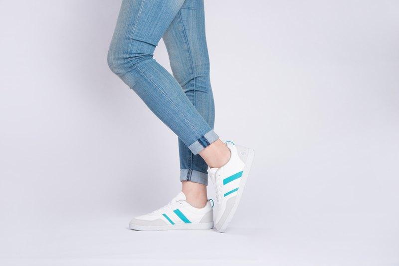 寶特瓶製休閒鞋  Opale 休閒系列   白/天空藍   女生款