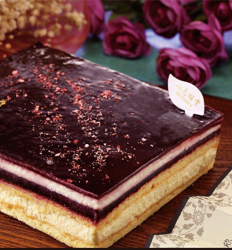 【七見櫻堂】小野小町 黑莓白巧起司蛋糕