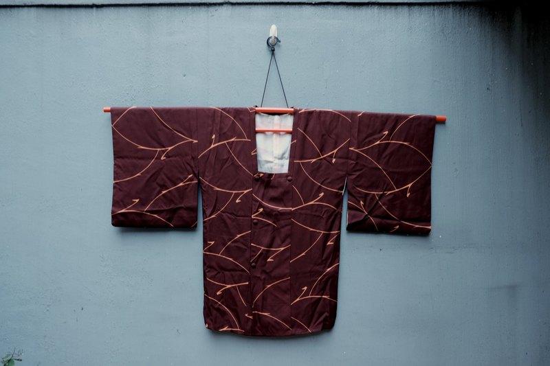 {古著}和服外套 絹織物