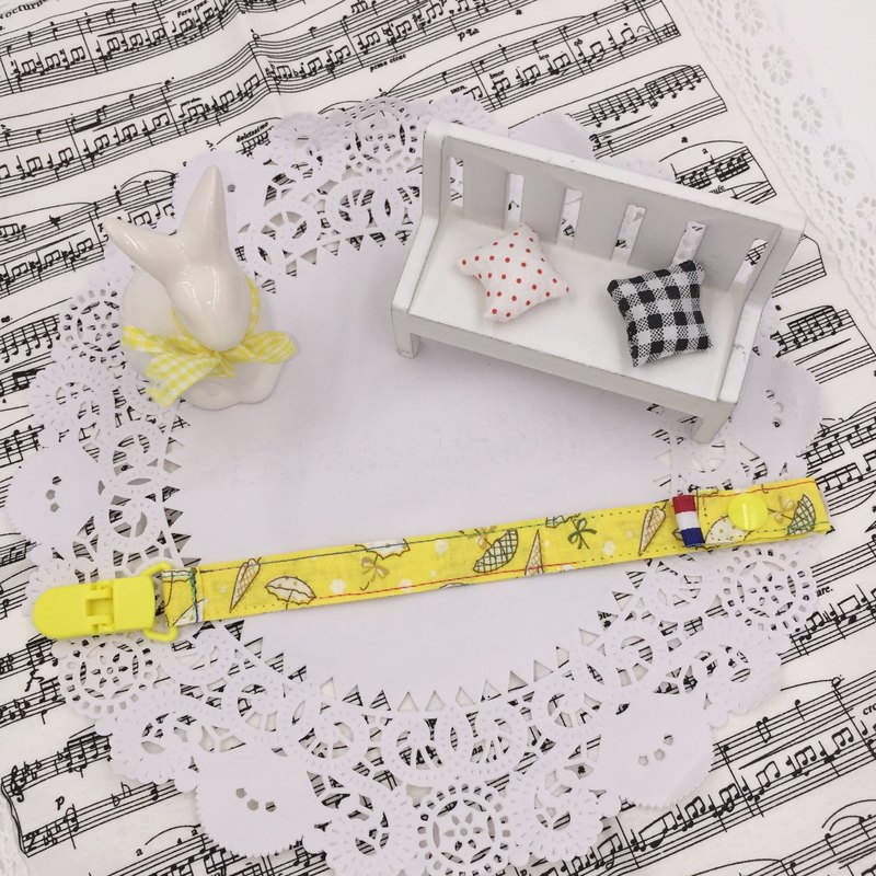A41-手工夾式奶嘴鏈 奶嘴夾 滿月禮物 玩具鍊 可做香草奶嘴 彌月