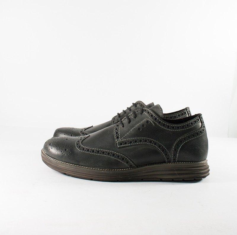 ITA BOTTEGA【Made in Italy】灰藍德比雕花紳士鞋