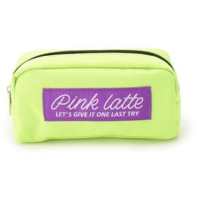 【ピンクラテ/PINK-Latte】 太リボンロゴポーチ
