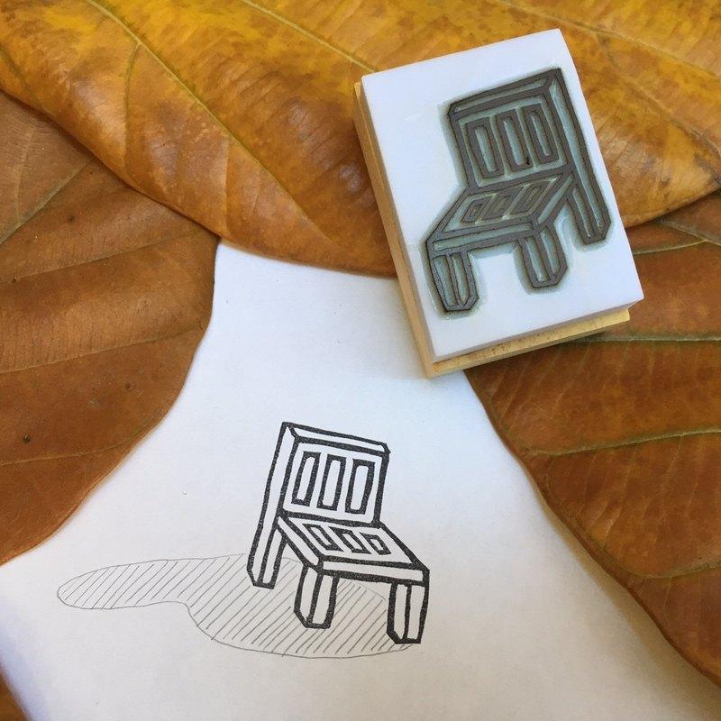 椅子 手刻印章