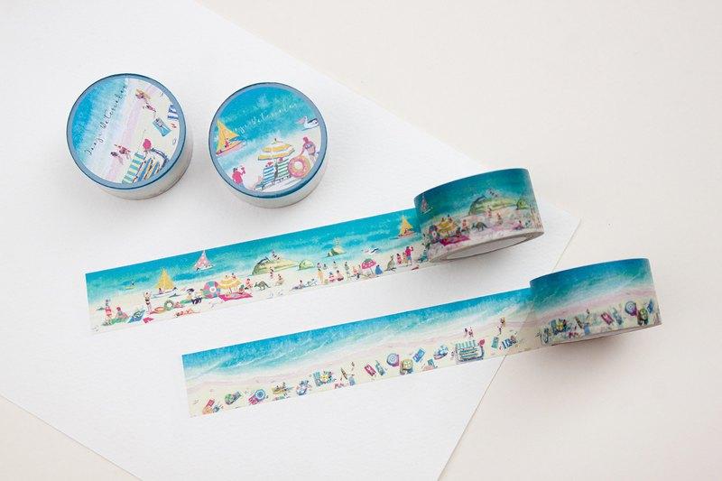 【雙入特別優惠 】夏末海の限定款 - | 啾吉水彩 手繪紙膠帶
