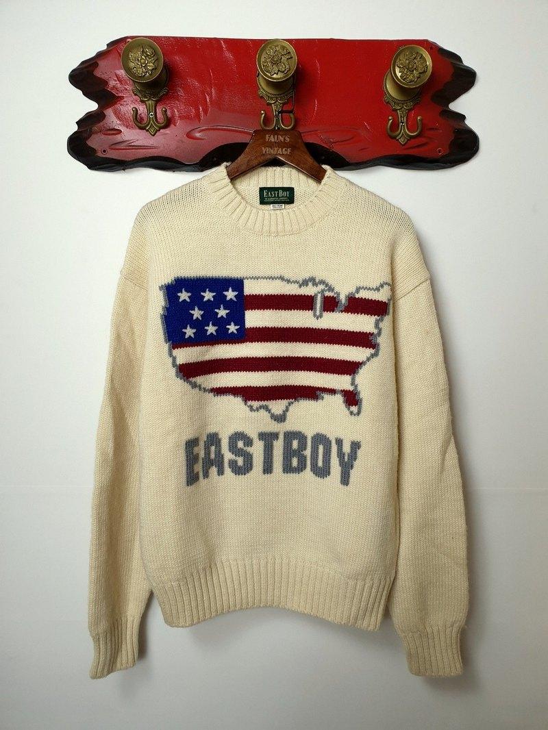 小龜葛葛-EASTBOY 美國國旗套頭毛衣