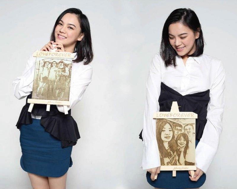 手工定製 / 客製化 原木框 木刻畫 木製相框 交換禮物 情人節禮物