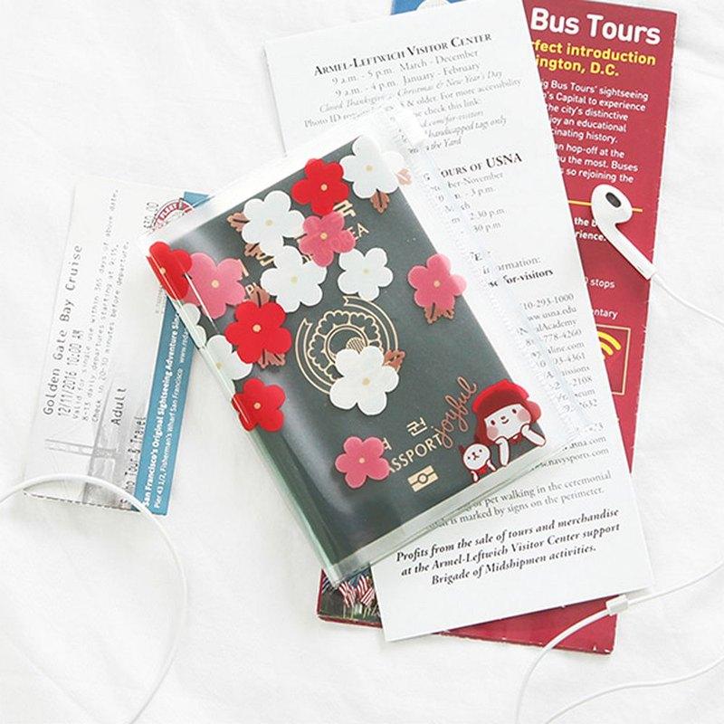 哈囉 珍妮 透明護照夾 03 櫻花