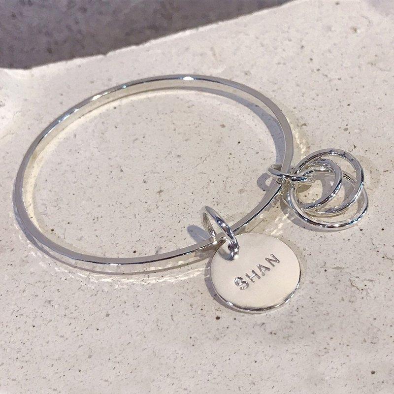 金工課程【1 人成團】波紋圈質感銀手環 手作手環 閨蜜 情侶 禮物