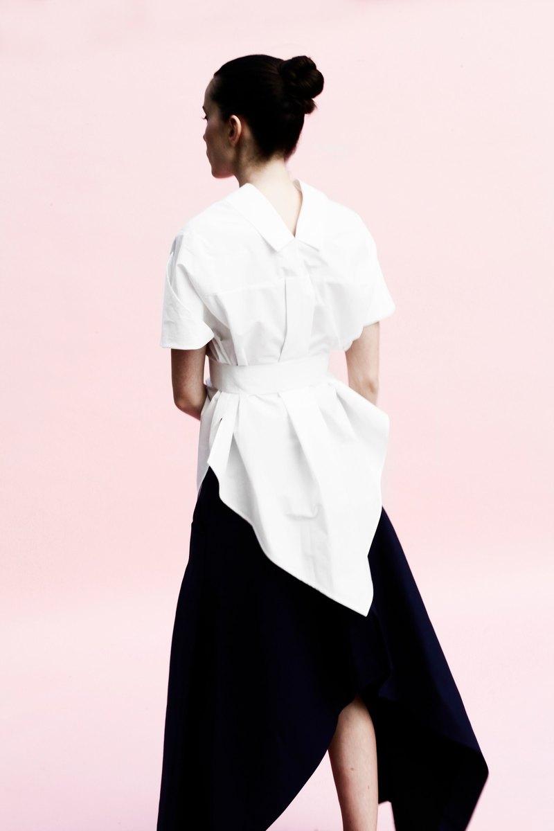 孔雀裙: 黑/粉紅: 義大利製: 一片式剪裁