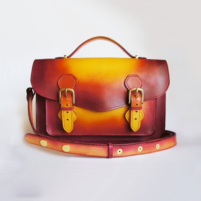 13吋太陽染劍橋包(肩背款)-多色選擇 新年禮物客製