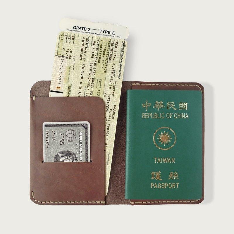 護照夾/記事手札/記事本 (附贈一本筆記本) -- 深咖啡色