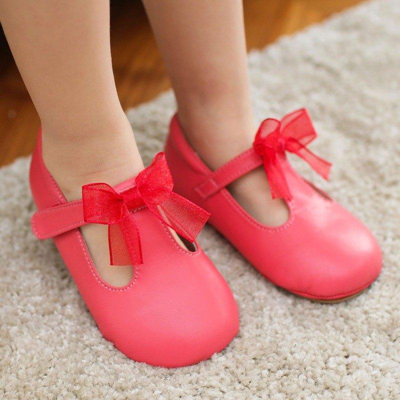 (零碼特價)夢幻蝴蝶瑪莉珍寶寶鞋-西瓜紅